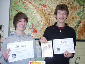 Erdkwettbewerb: Henrik Hasse (li.) und Andreas Mischer