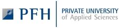 Logo der PFH