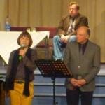 Buchvorstwellung: Sabine Schlotter und Bürgermeister Klaus Geise