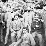 Hermann Vöchting (vorn) mit Mitarbeitern des Botanischen Gartens Bonn