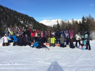 Gruppenbild Skifahrt